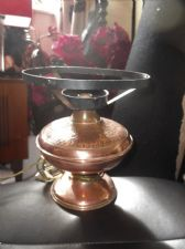 ORIGINAL VINTAGE CRAFTED COPPER OIL LAMP CONVERTED TO ELECTRICITY NEEDS WIRING